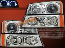 2003-06 SILVERADO/2003-06 AVALANCHE CLEAR HALO HEADLIGHTS + BUMPER LIGHTS