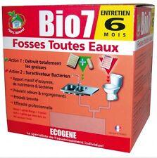 ENTRETIEN FOSSE TOUTES EAUX 6 MOIS  BIO7 ECOGENE