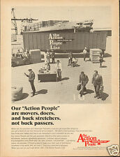 "1972 American President Lines ""Van Buren"" The Action People Line Print Ad ^"