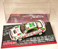 IXO 1:43 TOYOTA CELICA TURBO 4WD 1000 LAKES 1993 KANKKUNEN-RALLY MODEL CAR SCALE