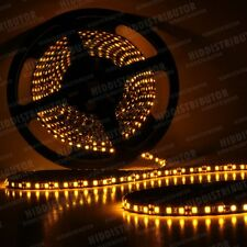 New 5m Roll 16ft 3528 SMD LED 600 LEDs Waterproof Flexible Light Strip - Amber