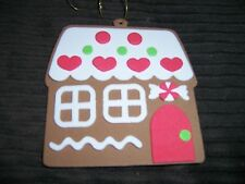 Gingergread House and Gingerbread Man Foam Christmas Tree Ornaments