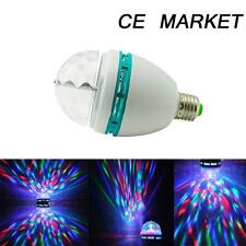 A E27 RGB LED Rotating Stage Crystal Ball LED Light Lamp for DJ/Disco//Party 3W