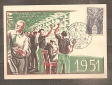 TIMBRE FRANCE FRANKREICH FDC 1951 N°879 OBLITERE USED COTE 160 EUROS 1ER JOUR