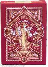 Tycoon Crimson Red Deck Playing Cards Poker Size USPCC Theory 11 Limited Edition