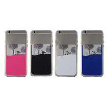 6 Color 3M Adhesive Sticker Card Holder Pouch For iPhone 6 Samsung Cell Phone