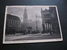 Ak. Rathaus Hamburg, Karte gelaufen nach Dänemark