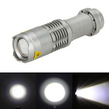 7W 1200LM Mini CREE LED Flashlight Torch Adjustable Focus Zoom Light Lamp 3Modes