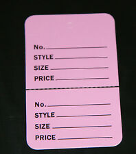 """100 LAVENDER 2.75""""x1.75"""" Large Perforated Unstrung Price Consignment Store Tags"""