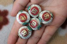 Handmade Nepal Beads 5 PCS Shell Mantra Om Oblate Spacer Loose Beads (18000072)