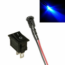 Flashing Blue Small 3mm LED + Switch Car, Boat, Caravan Dummy Fake Alarm 12V
