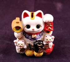 "Awesome 2.5"" Asian Oriental Kitty Cats Replica Coin Bank"