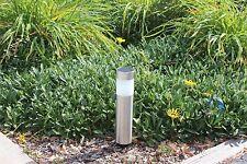 4-pack  Garden Solar Bollard Light with White LED -Stainless Steel NEW