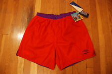 Vintage UMBRO SAND SOCCER REVERSIBLE checkered red purple 90s Mens shorts L