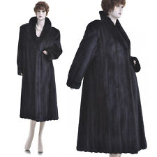 Mint! Rare Petite! Black Beauty! Real Female Canadian Black Mink Fur Coat