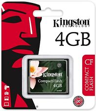 Kingston 4GB CF 4G Compact Flash memory card high Speed CF/4GB Retail