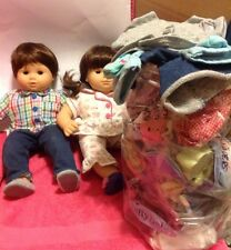 American Girl Bitty Baby Twins Boy & Girl + Clothing Lot Excellent Condition