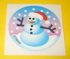 Vintage TREND Scratch n Sniff SNOWMAN Winter Christmas Peppermint Scent STICKER