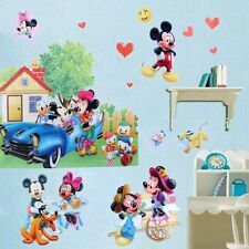 Mickey Minnie Mouse 3D Amovible Autocollant Mural Décalque Vinyle Art Enfants