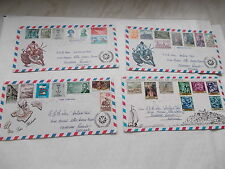 Collection de 4 spanish first day covers??? complet avec inserts-voir diaporama
