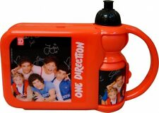 One Direction Red With Sports Water Bottle Lunch Box Brand New Gift