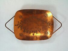 Vintage Messica Hand Made Israel Copper Small Footed Tray Platter Dish 0011010