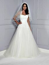 AMANDA WYATT PEONIE A-LINE BONED WEDDING DRESS, PLUS SIZE UK 24,  RRP £1,100