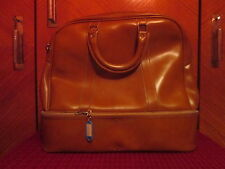 SUPERBE SAC DE VOYAGE EN CUIR EPAIS/LEATHER BAG TRAVEL/DESIGN ART DECO 1950 1960