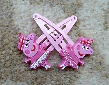 Peppa Pig Girls Hair Clips x 2 - Princess Peppa with Ballet Dress, Brand New