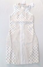 Missguided Women's Carli Bybel Lace Cut Out Cross Dress White CB4 Size US:6 NWT