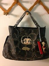 Betty Boop Black Purse-Betty's Face & Betty Boop words on front-New With Tags