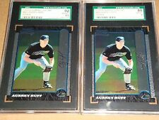 2 1999 BOWMAN CHROME #426 AUBREY HUFF RC LOT SGC 88 & SGC 92 RAYS, TIGERS