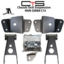 "Drop Shackles Hangers 4"" Lowering 88-98 C1500 Chevy GMC Silverado Sierra kit"