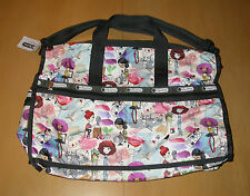 NWT LeSportsac 2211 Large Weekender Bag Art School Print