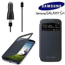 Véritable samsung galaxy s4 s view flip cover cas accessoire pack + Chargeur de voiture