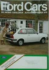 Ford Cars All Model Catalogue  -August/ September 1979