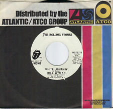 BILL WYMAN  White Lightnin'  rare promo 45 from 1974  ROLLING STONES