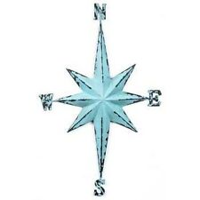 XXL Blue Vintage Direction Compass Beach Nautical Star metal Sign Hanging Decor