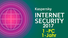 KASPERSKY Internet Security 2017 antivirus 1-anno 1-pc