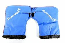 SuperBike Motorcycle Handle Bar Mitts Muffs Blue Gloves Hand Warmer