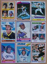 1976 1977 1978 1979 Topps Lot Finish Complete Set 50 Picks ExMt - NrMt