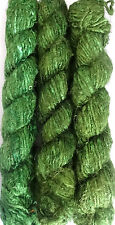 500g.Himalaya Recycled PURE SOFT Banana Silk Yarn Olive-Green