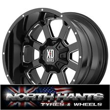 20X10 KMC XD BUCK 25 BLACK WHEEL DODGE RAM 1500, JEEP WRANGLER 2007+