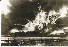 USS ARIZONA MEMORIAL POSTCARD EXPLOSION OF THE FORWARD MAGAZINE OF USS SHAW