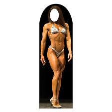 FEMALE BODYBUILDER Lifesize Stand-In CARDBOARD CUTOUT Standin Standup Standee