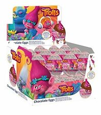 10 Eggs - TROLLS Chocolate Easter Surprise Eggs with Prize Inside