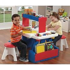 Kids Activity Table And Chairs With Storage Plastic Toddler Furniture Play Set