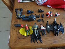VINTAGE  DC  COMICS BATMAN LOT WITH FIGURES,VEHICLE,ACCESSORIES
