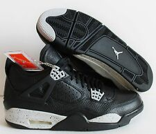 NIKE AIR JORDAN 4 RETRO LS BLACK-TECH GREY-BLACK SZ 16 OREO! [314254-003]