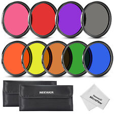 Neewer 9pcs 58mm Complete Full Color Lens Filter Set for SLR Camera Lens UD#20